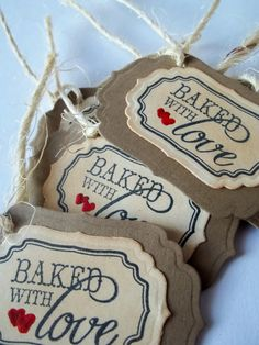 Cookie Gift Tags Baked Good Tags Gift Tags Party by LillyThings, $6.50