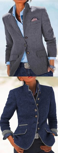 2020 Women Spring Fahion Blazer Coats Source by schugj casuales tenis primavera Blazer Outfits, Blazer Fashion, Casual Fall Outfits, Suit Fashion, Look Fashion, Trendy Outfits, Spring Fashion, Winter Fashion, Fashion Outfits