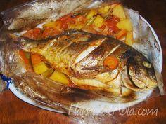fırın poşetinde balık - Google'da Ara Fish Recipes, Seafood Recipes, Cooking Recipes, Turkish Kitchen, Turkish Recipes, Fish Dishes, Iftar, Bon Appetit, Food Videos