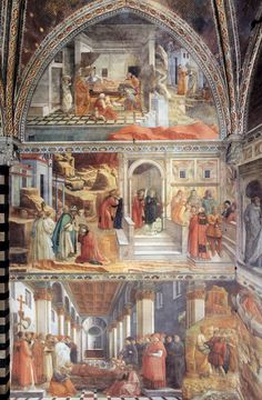 Filippo Lippi - Stories of St. John the Baptist in the left (north) wall of the…