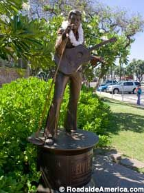 Elvis Aloha Statue in Honolulu, Oahu, Hawaii