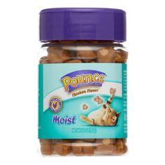 Pounce Moist Chicken Flavor Cat Treats 3-Ounce Canister