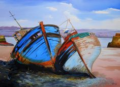 Boats waiting for repair. Laura Gibney.