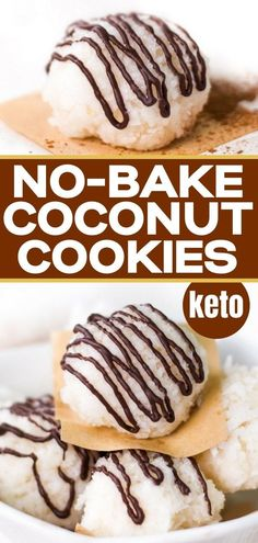If you love coconut cookies you will love this easy keto and dairy free no bake recipe. So easy to make - these chewy soft coconut cookies are ready in minutes. You can even enjoy then if you are on a gluten free, low carb diet! Coconut Recipes, Low Carb Recipes, Baking Recipes, Free Recipes, Whole Food Recipes, Blender Food Processor, Food Processor Recipes, No Bake Coconut Cookies, Dairy Free