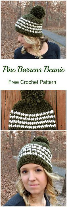 Free crochet pattern. Pine barrens beanie.