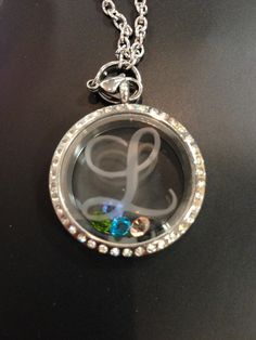 Etched Monogrammed Floating Living  Locket with by OneOakDesigns, $24.99