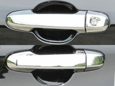 CAMRY 2012-2015 TOYOTA (Door Handle Cover Kit - ABS plastic with chrome overlay-W/O Passenger Key, NO Smart Key Access) DH12135