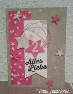 Tinas-Bastelecke - Stampin' Up! Demonstratorin Gänserndorf, Niederösterreich, Wien, Mistelbach: Mädchen-Geburtstags- und Babykarte