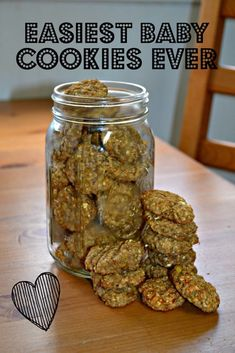 Homemade baby cookies require only 2 ingredients and are allergy friendly! Simply cookies make great snacks for babies. Homemade baby foods Easiest Baby Cookies Ever - the best 2 ingredient cookies Teething Cookies, Teething Biscuits, Toddler Cookies, Baby Cookies, Cookies For Babies, Summer Cookies, Heart Cookies, Baby Cookie Recipe, Toddler Muffins