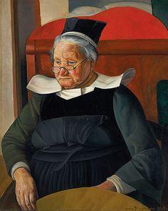"""""""La Mere Agathe"""" by Boris Grigoriev, 1924 The Monks, Russian Art, Art Auction, Historian, Art World, Art For Sale, Art Museum, Oil On Canvas, Portrait"""
