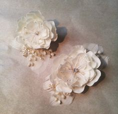 In latest news, we just did this pair of matching pin and #hair #accessory. Aren't they just lovely? Come to the #magnoliaatelier and we'll show you what wonders we can do for you!