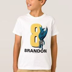 This kids t-shirt shows Batman and the name and age of you child. This personalized t-shirt will be a big hit by kids that love Batman and have a birthday. Birthday Cartoon, Batman Birthday, Superhero Birthday Party, Happy Birthday, 5th Birthday, Birthday Ideas, Birthday Gifts, Batman Shirt, Joker Batman