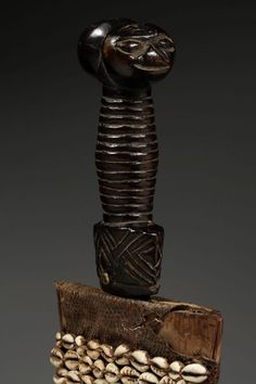 Ornamental Prestige Sword in Scabbard Bamum / Bamiléké / Tikar, Cameroon Grasslands :: ERTribal Wood Sculpture, Tribal Art, Small Groups, Rattan, Sword, Brass, Metal, Wicker, Metals