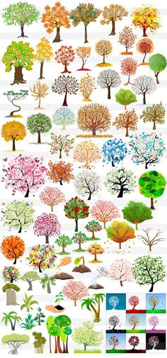 かわいい木・樹木・ヤシの木 Folk Art Flowers, Flower Art, Watercolor Trees, Watercolor Paintings, Landscape Sketch, Environment Concept Art, Arte Floral, Art Graphique, Environmental Art