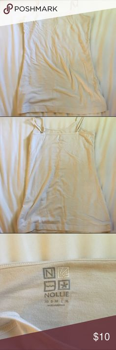 White nollie tank All white tank top. Perfect for any occasion. No built in bra. Fully adjustable straps. Size S. Not a think fabric. Bought from pacsun. PacSun Tops Tank Tops