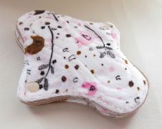 Petite Teens cloth pads Minky Cotton Velour by MariposasClothPads, $22.00