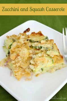 Delicious Zucchini and Squash Casserole Recipe #zucchini #squash #casserole http://southernkrazed.com/2014/09/delicious-zucchini-squash-casserole-recipe/
