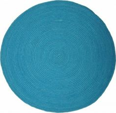 Runder Kinderteppich in Türkis aus reiner Wolle, 90 oder 140 cm, von 1 Pied Sur Terre