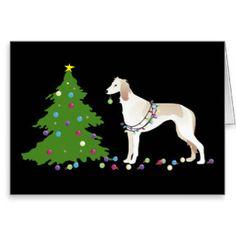 Saluki Christmas Design Greeting Card