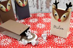 Make reindeer gift bags using Sizzix Big Shot - CherylStyle