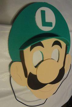 Super Mario Bros party masks favors luigi Yoshi by funpartycrafts, $3.00