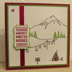"""Set de tampons Stampin Up """" Mountain adventure """" - Noël 2016 Nouvel An, Winter Cards, Tampons, Cute Cards, Stampin Up Cards, Card Ideas, Stencils, Birthday Cards, Christmas Cards"""