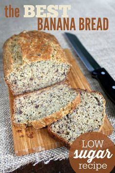 Low Sugar Banana Bread The Best Low Sugar Banana Bread Recipe is easy and delicious!The Best Low Sugar Banana Bread Recipe is easy and delicious! Low Sugar Desserts, Low Sugar Recipes, Diabetic Desserts, No Sugar Foods, Diabetic Recipes, Dessert Recipes, Cooking Recipes, Low Sugar Snacks, Diabetic Foods