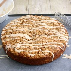 What was that recipe again?: Pumpkin Coffee Cake with Cinnamon Struesel