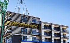 Speedy Prefab: How a 9-Story Apartment Was Built in 5 Days