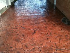 Stamped Concrete is the process of adding texture and color to concrete. This process makes ordinary concrete to resemble stone, brick, slate, cobblestone and much more. There are endless possibilities with Stamped Concrete! Stamped Concrete, Slate, Tile Floor, Brick, Texture, Color, Design, Surface Finish, Chalkboard