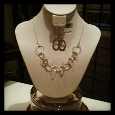 Apa Design sterling silver signature section necklace