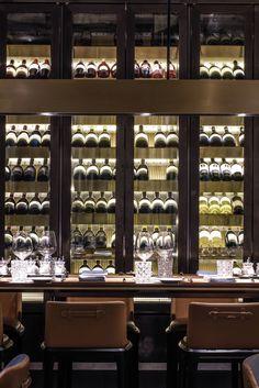 Kokaistudios Designs Porterhouse by Laris Restaurant in Hong Kong — urdesignmag Design Café, House Design, Interior Design, Cafe Design, Restaurant Design, Restaurant Bar, Cafe Bar, Caves, Wine Cellar Design