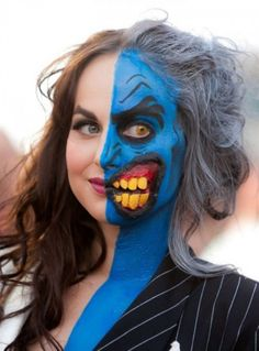 Awesome Female Two Face - Batman would be put to task~!~   smiles