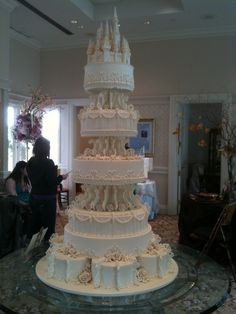 Disney Fairytale Wedding Cake White Castle