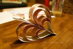 Pretty Paper Heart Garland Decoration!