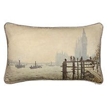 Buy Andrew Martin National Gallery Monet's The Thames below Westminster Cushion Online at johnlewis.com