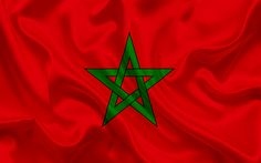 Descargar fondos de pantalla Marroquí de la bandera, Marruecos, África del Norte, bandera de seda, la bandera de Marruecos