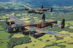Two beautiful birds Military Jets, Military Weapons, Military Aircraft, Ww2 Aircraft, Fighter Aircraft, Air Fighter, Fighter Jets, Lancaster Bomber, Flying Vehicles