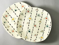 'Triangles' by Jessie Tait for Midwinter Pottery by robmcrorie, via Flickr