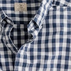 Secret Wash shirt in faded gingham// jcrew