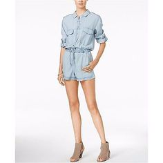 2ae8c27c6db6 Sanctuary Clothing Soft Surplus Tencel Romper - Kaskade Wash Sz L MSRP $129  NWD Denim Romper