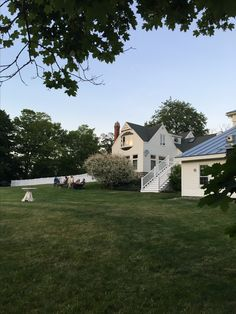 View of The 1812 Farm's lawn.