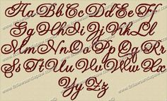 Theodore Embroidery Fonts 3 Sizes