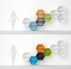 POOSTAQ - shelving unit - project 2010 by Radek Nowakowski, via Behance