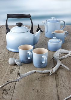 I just died and went to my dream land. Tea kettle and French press i - Tea Set - Ideas of Tea Set - Le Creuset. I just died and went to my dream land. Tea kettle and French press in blue!