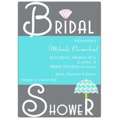 Umbrella Bridal Shower Invitations