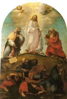 The Transfiguration of Christ, - Lorenzo Lotto Santa Maria, Transfiguration Of Jesus, Rosary Mysteries, Divine Mercy Chaplet, High Renaissance, Holy Rosary, Religious Art, Catholic Art, Altar