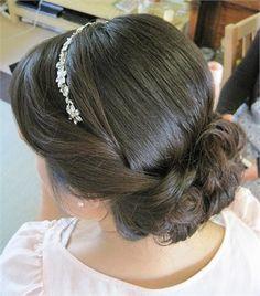 Wedding Makeup Vintage Gatsby Prom Hair For 2019 Prom Hair Updo, Bridal Hair Updo, Wedding Hairstyles With Veil, My Hairstyle, Bride Hairstyles, Headband Hairstyles, Vintage Hairstyles, Down Hairstyles, Headband Wedding Hair