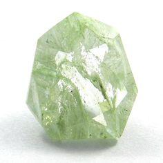Attractive Aqua Crackle Glass 12x13mm shield rose cut jewelry gemstone, 5.05CTS #Handmade