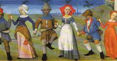 Flounced skirt hem. Full Bibliotheque National, Paris, Ms Latin, 873, f21r